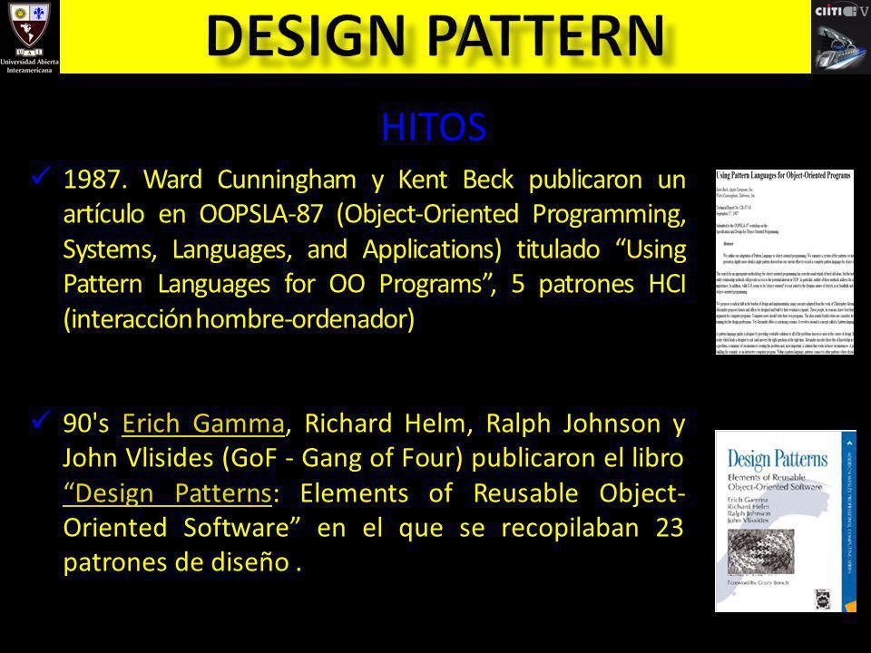 Coplien y Schmidth.Pattern Languages of Program Design.
