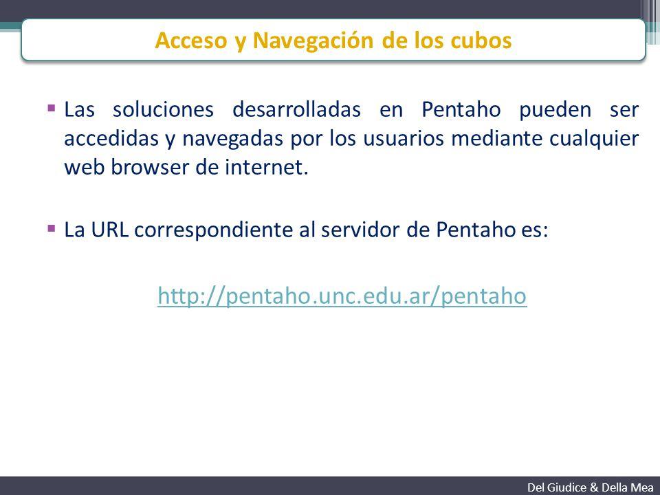 Las soluciones desarrolladas en Pentaho pueden ser accedidas y navegadas por los usuarios mediante cualquier web browser de internet.