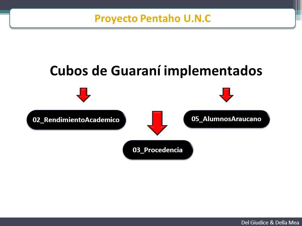 Adaptación de las soluciones del SIU Del Giudice & Della Mea A nivel ETL Modificaciones necesarias para adaptar las soluciones del SIU a la UNC