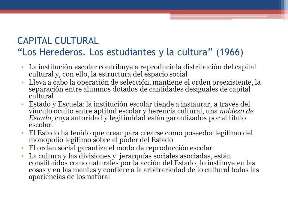 CAPITAL CULTURAL Los Herederos.