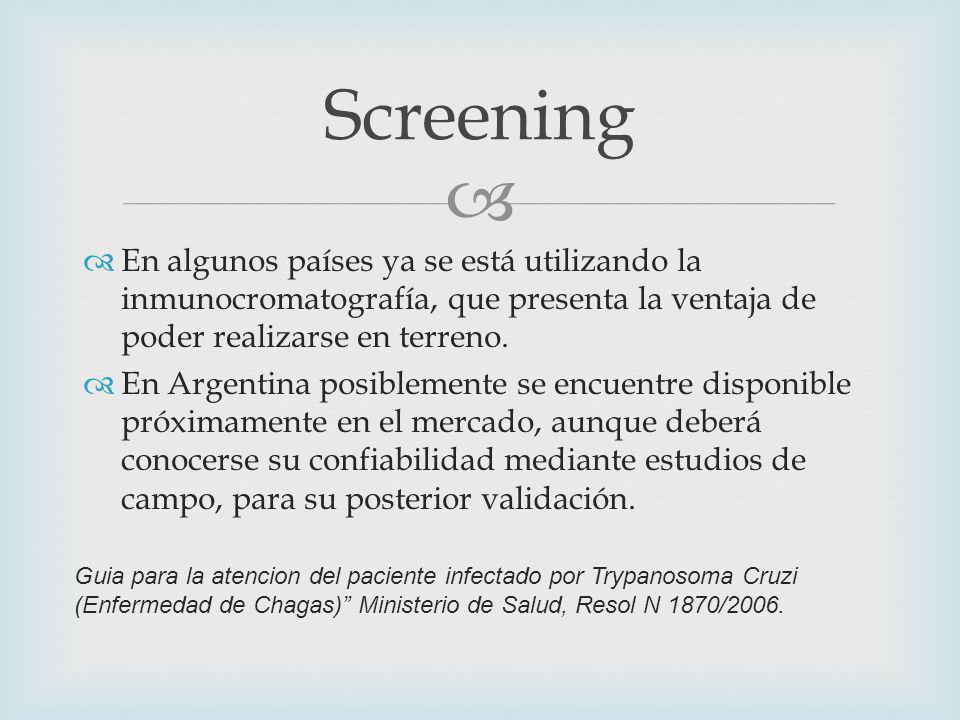 En algunos países ya se está utilizando la inmunocromatografía, que presenta la ventaja de poder realizarse en terreno.