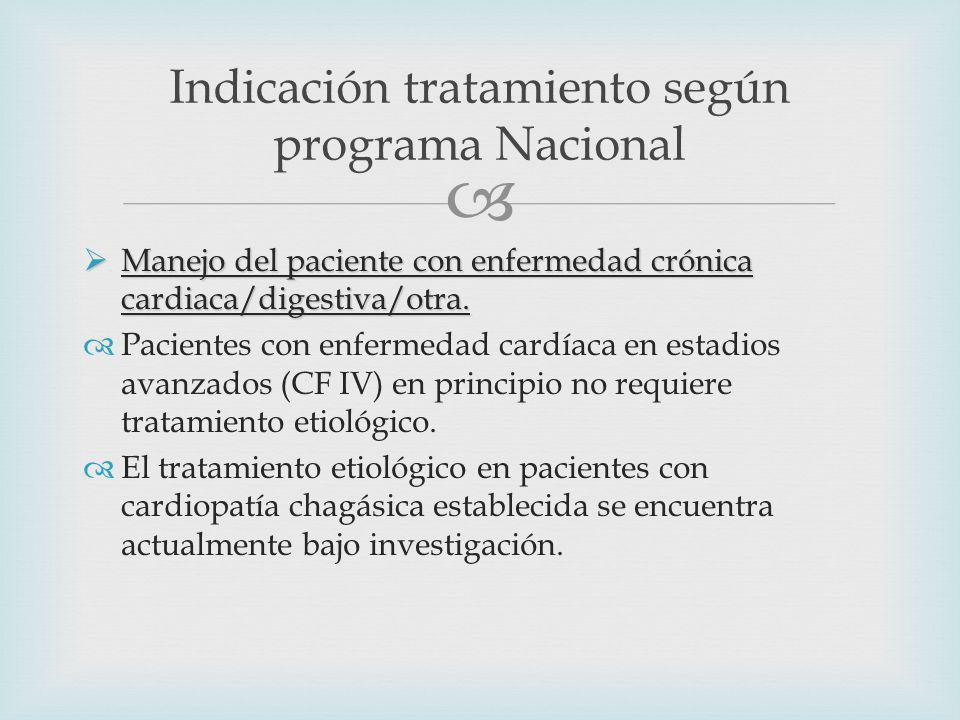 Manejo del paciente con enfermedad crónica cardiaca/digestiva/otra.