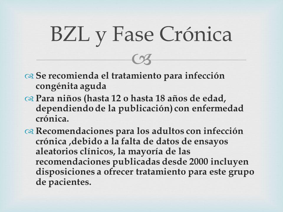 Se recomienda el tratamiento para infección congénita aguda Para niños (hasta 12 o hasta 18 años de edad, dependiendo de la publicación) con enfermedad crónica.