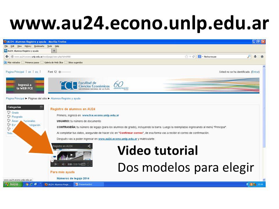 www.fce.econo.unlp.edu.ar USUARIO: tu documento CONTRASEÑA: tu legajo, incluyendo la barra.