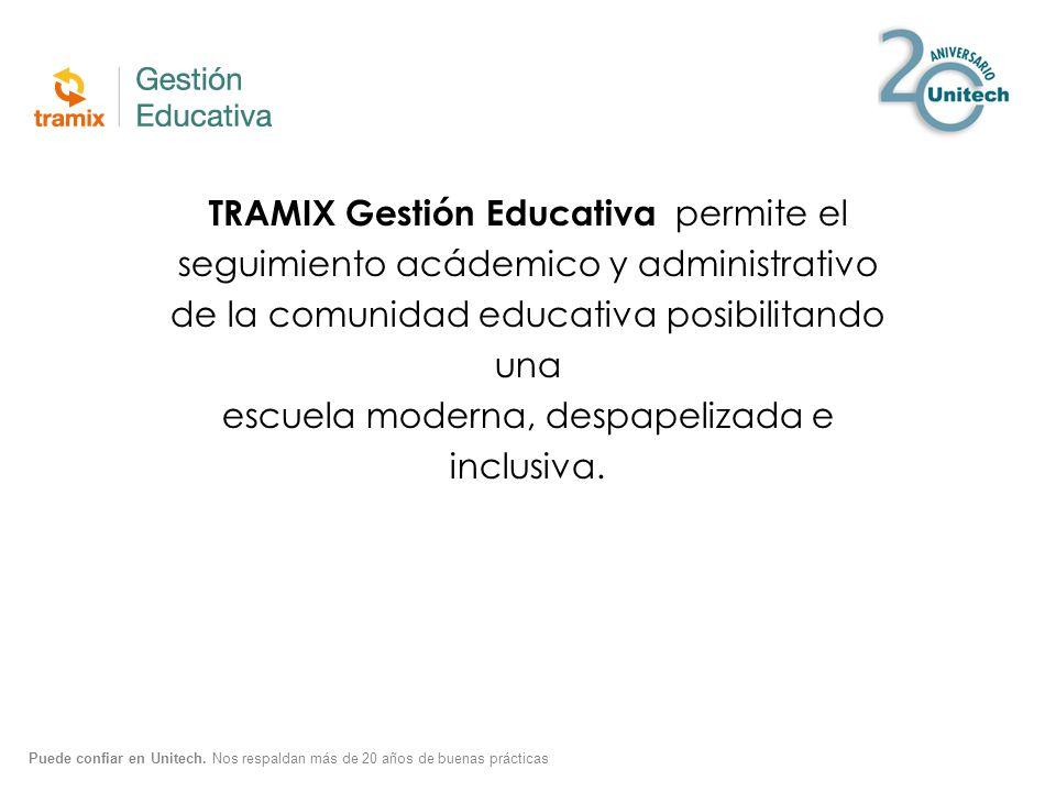 TRAMIX Gestión Educativa permite el seguimiento acádemico y administrativo de la comunidad educativa posibilitando una escuela moderna, despapelizada e inclusiva.