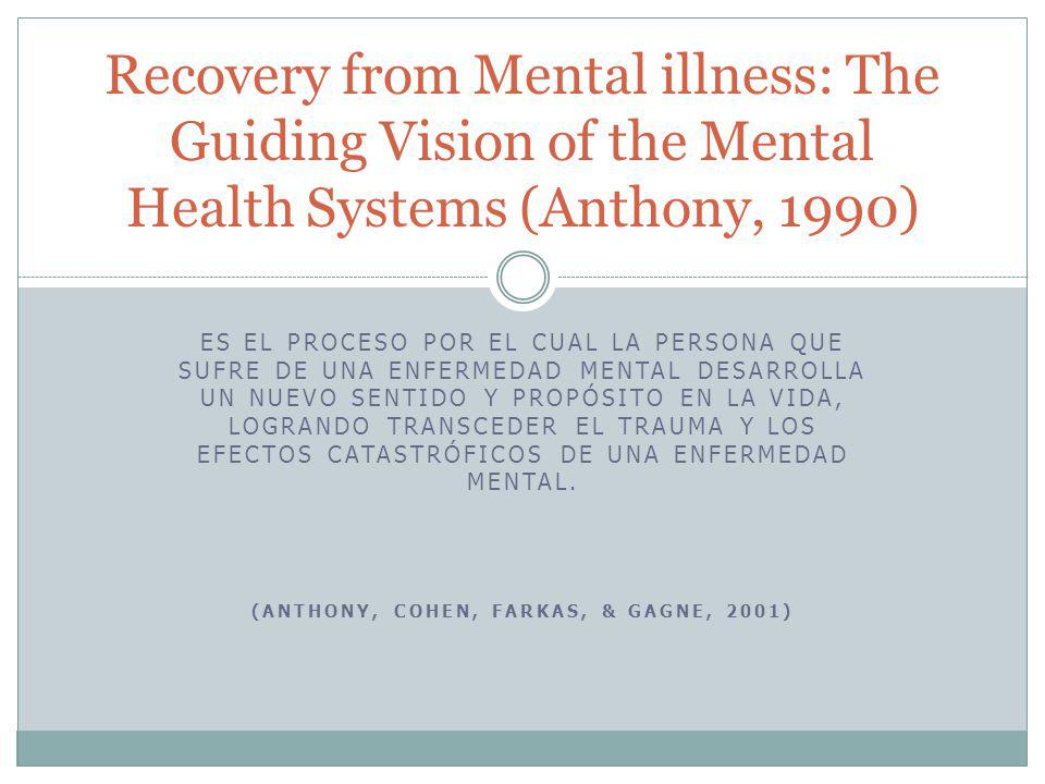 Evidencia en la literatura Center for Psychiatric Rehabilitation, Boston University, 2008 3 Recovery is possible.