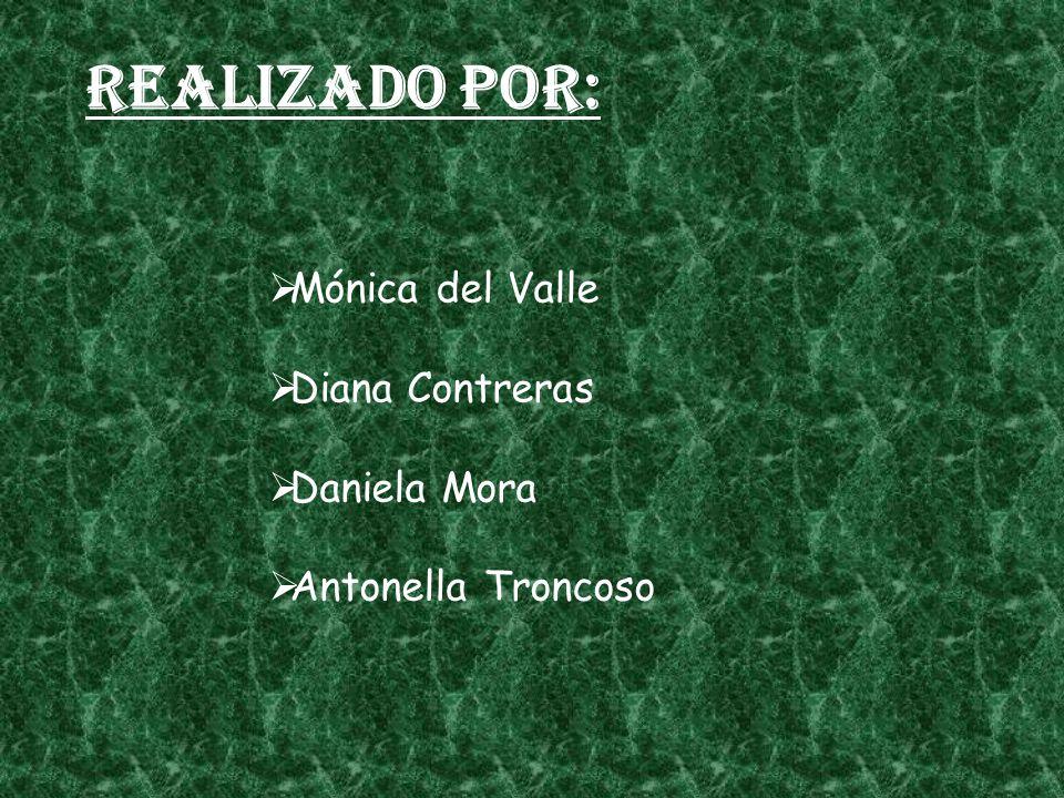 Realizado por: Mónica del Valle Diana Contreras Daniela Mora Antonella Troncoso