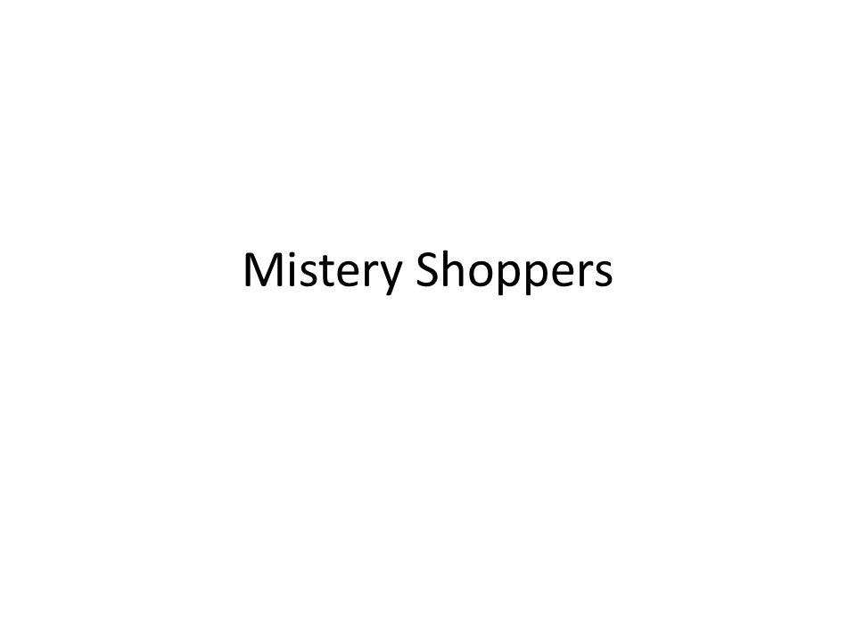 Mistery Shoppers