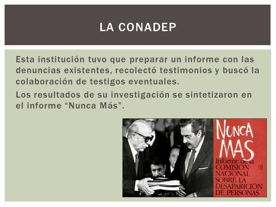 Con la vuelta a la democracia y Alfonsín como presidente, se impulsó el juicio contra las Juntas Militares.