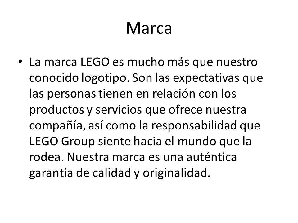 Marca La marca LEGO es mucho más que nuestro conocido logotipo.