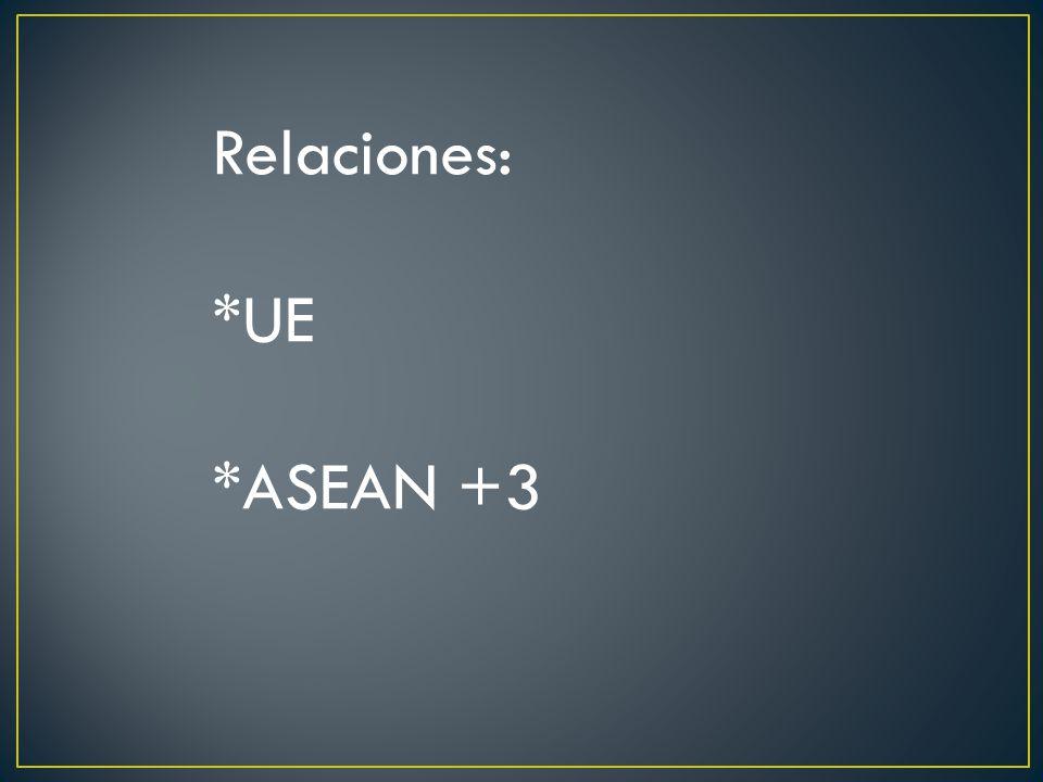 Relaciones: *UE *ASEAN +3