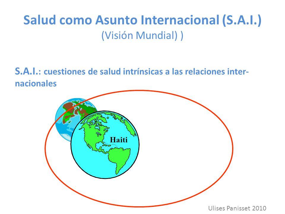 Salud como Asunto Internacional (S.A.I.) (Visión Mundial) ) S.A.I. : cuestiones de salud intrínsicas a las relaciones inter- nacionales Haiti Ulises P