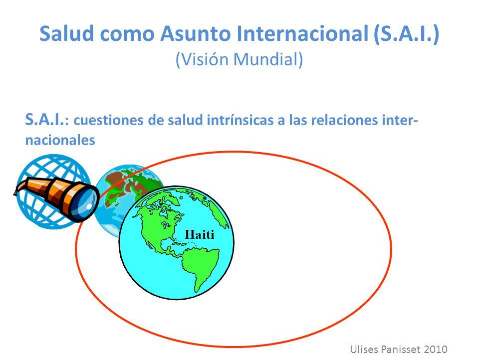 Salud como Asunto Internacional (S.A.I.) (Visión Mundial) S.A.I. : cuestiones de salud intrínsicas a las relaciones inter- nacionales Haiti Ulises Pan
