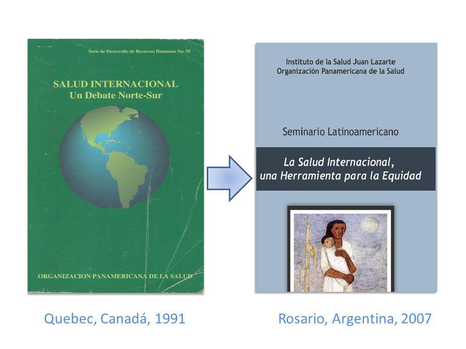Rosario, Argentina, 2007Quebec, Canadá, 1991