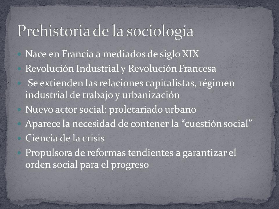 Nace en Francia a mediados de siglo XIX Revolución Industrial y Revolución Francesa Se extienden las relaciones capitalistas, régimen industrial de tr