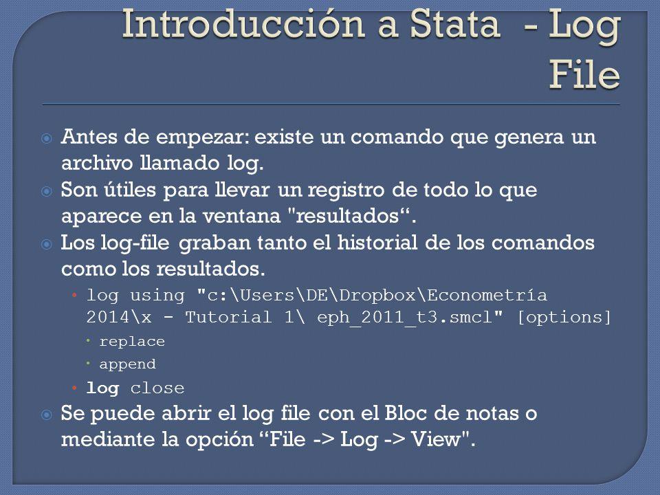 Antes de empezar: existe un comando que genera un archivo llamado log.
