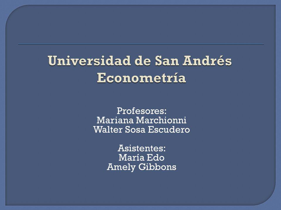Profesores: Mariana Marchionni Walter Sosa Escudero Asistentes: María Edo Amely Gibbons