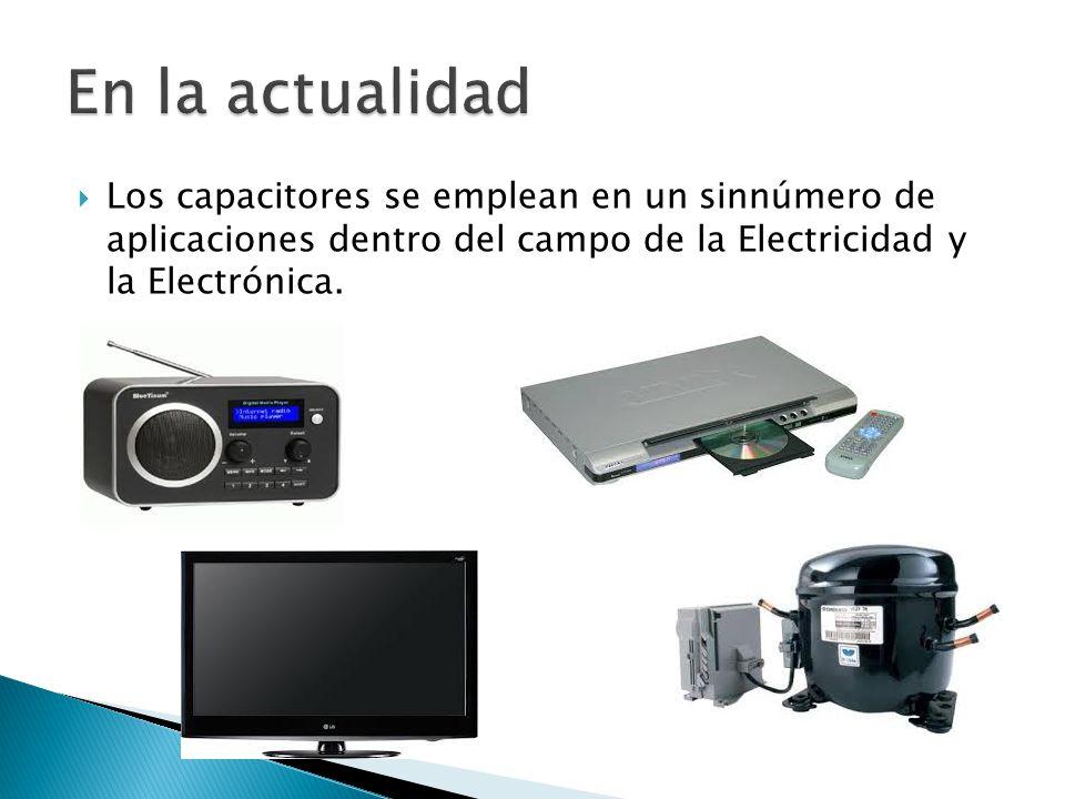 Los capacitores se emplean en un sinnúmero de aplicaciones dentro del campo de la Electricidad y la Electrónica.