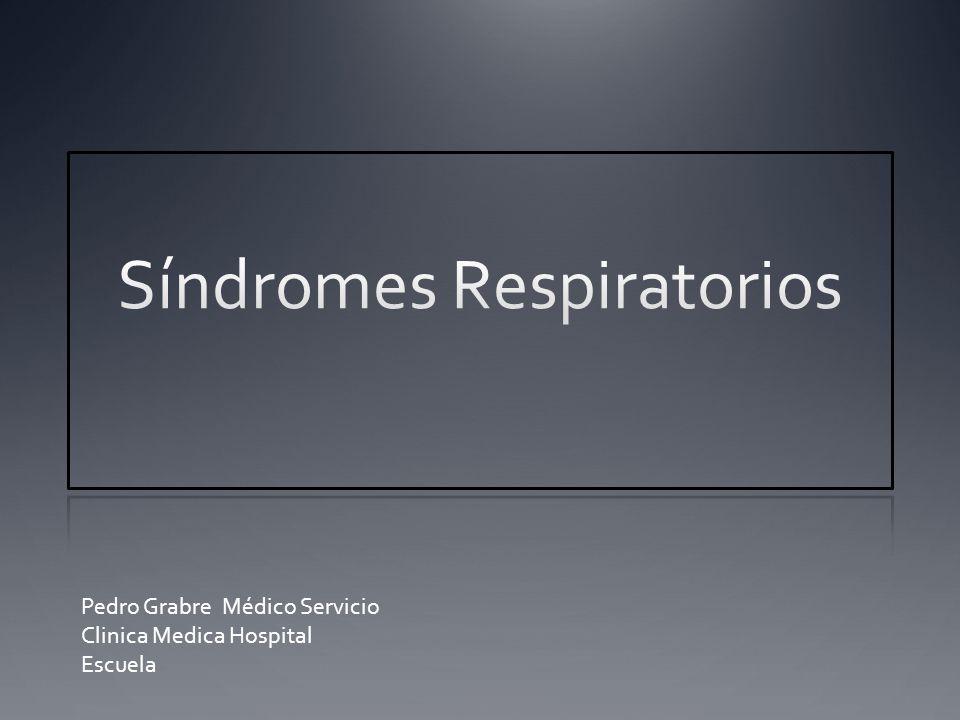 Objetivos Reconocer los distintos Síndromes Respiratorios.