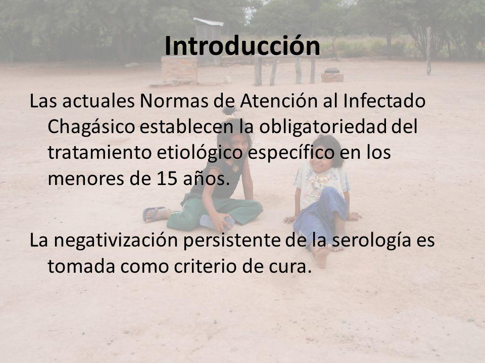Introducción Las actuales Normas de Atención al Infectado Chagásico establecen la obligatoriedad del tratamiento etiológico específico en los menores