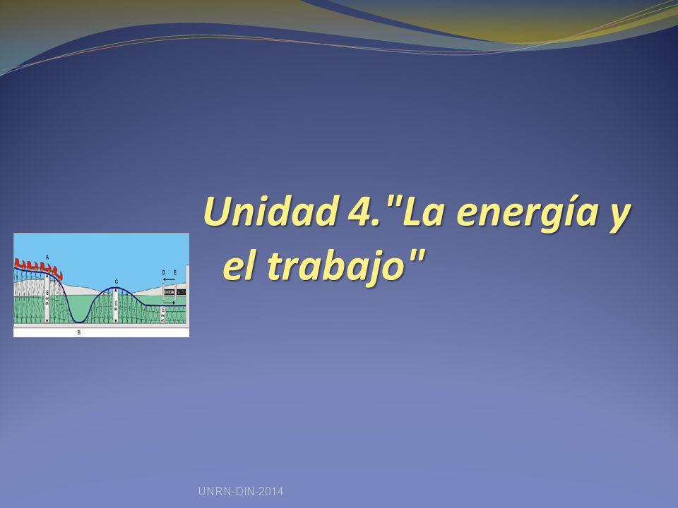 Unidad 4. La energía y el trabajo UNRN-DIN-2014