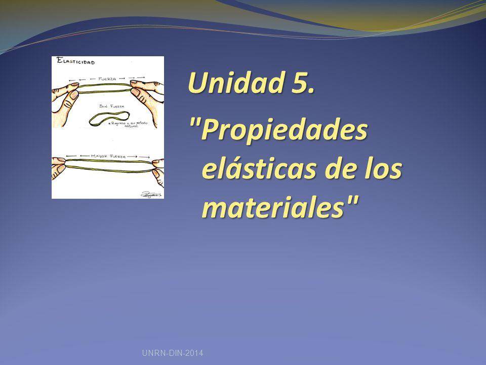 Unidad 5. Propiedades elásticas de los materiales UNRN-DIN-2014