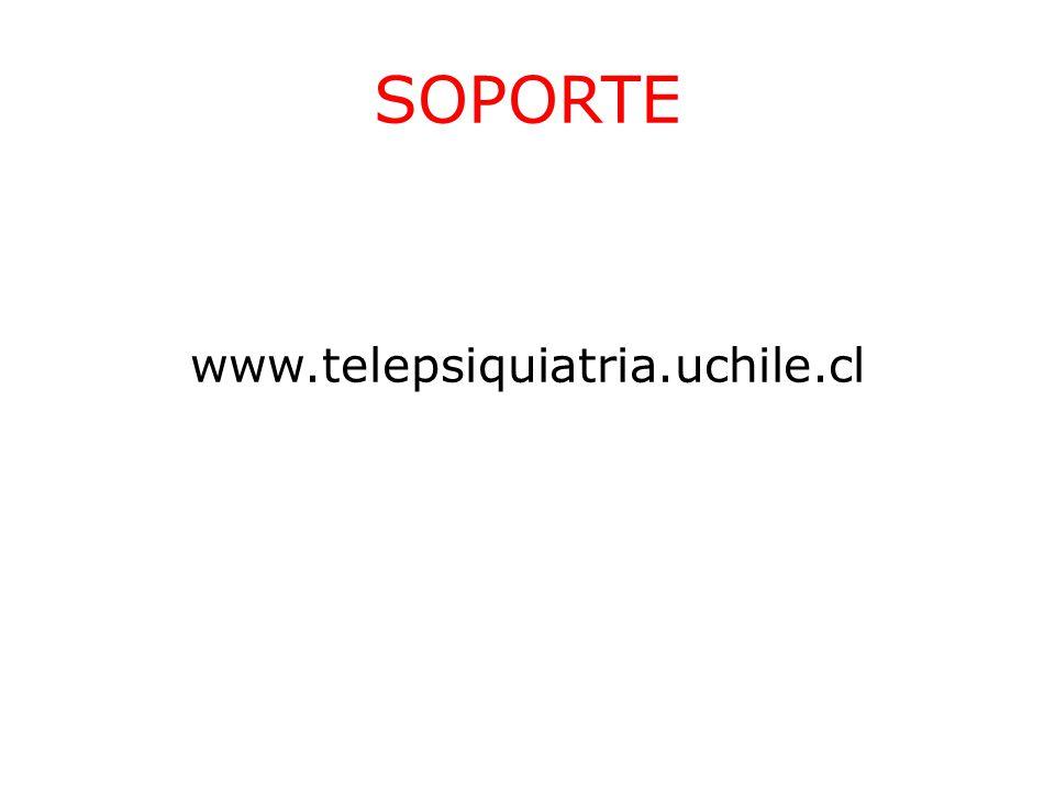 SOPORTE www.telepsiquiatria.uchile.cl