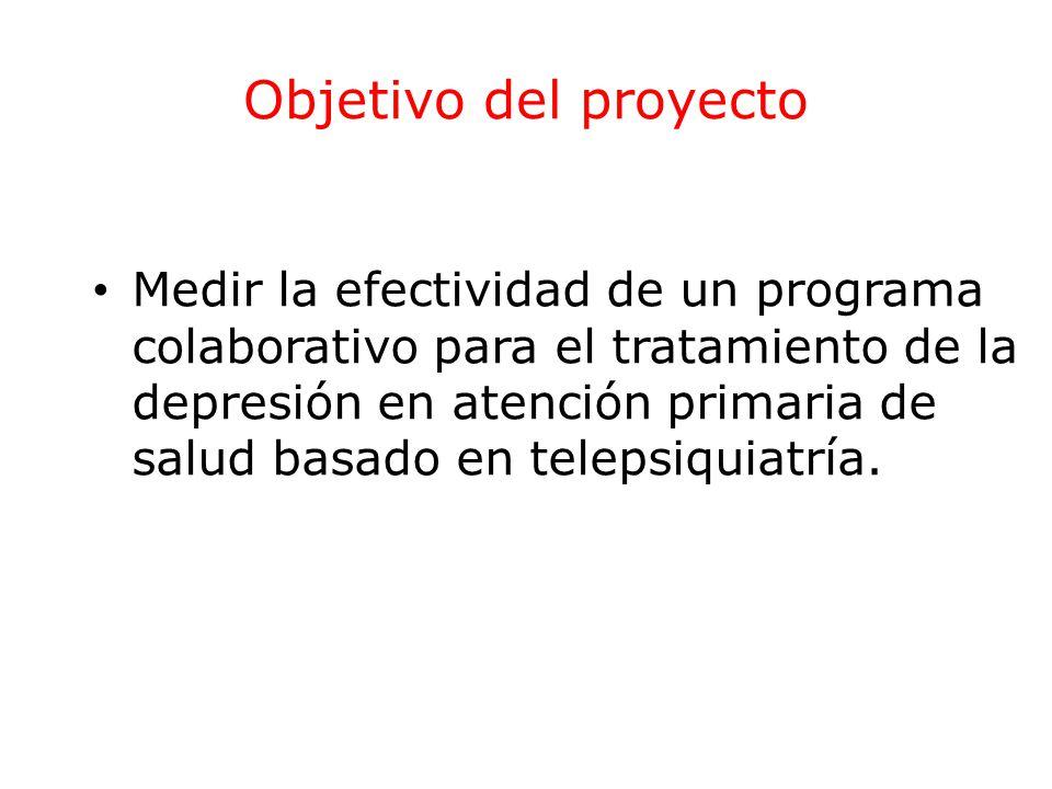 Objetivos específicos Comparar la evolución de los síntomas depresivos y funcionalidad.