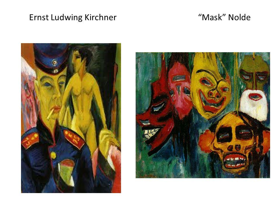 Ernst Ludwing Kirchner Mask Nolde