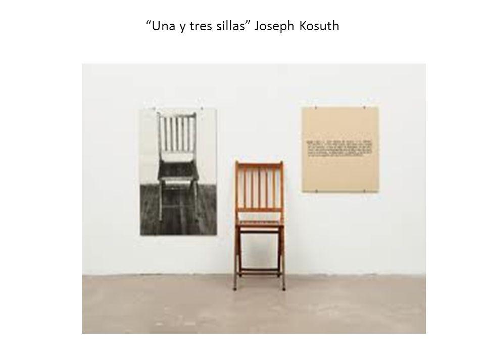 Una y tres sillas Joseph Kosuth