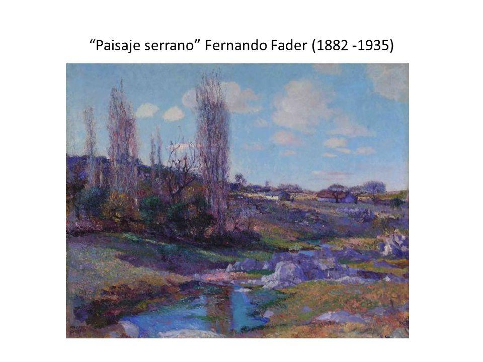 Paisaje serrano Fernando Fader (1882 -1935)