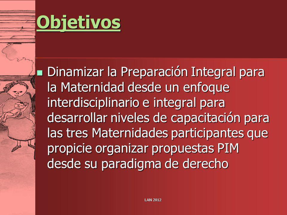 Objetivos Dinamizar la Preparación Integral para la Maternidad desde un enfoque interdisciplinario e integral para desarrollar niveles de capacitación