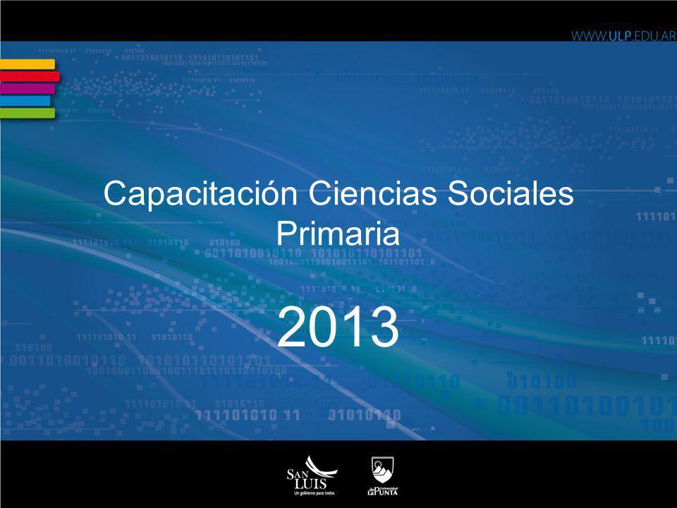 Capacitación Ciencias Sociales Primaria 2013
