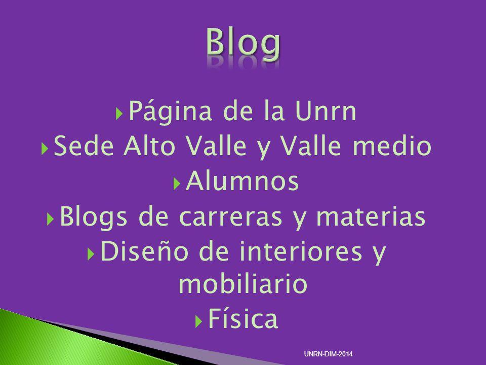 Página de la Unrn Sede Alto Valle y Valle medio Alumnos Blogs de carreras y materias Diseño de interiores y mobiliario Física