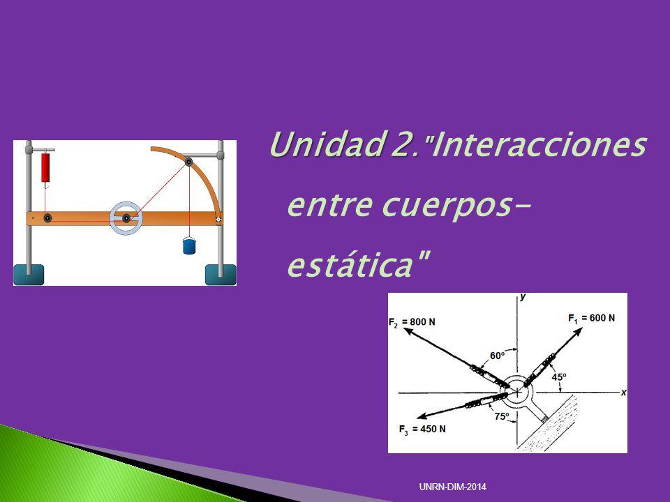 Unidad 2. Unidad 2. Interacciones entre cuerpos- estática UNRN-DIM-2014