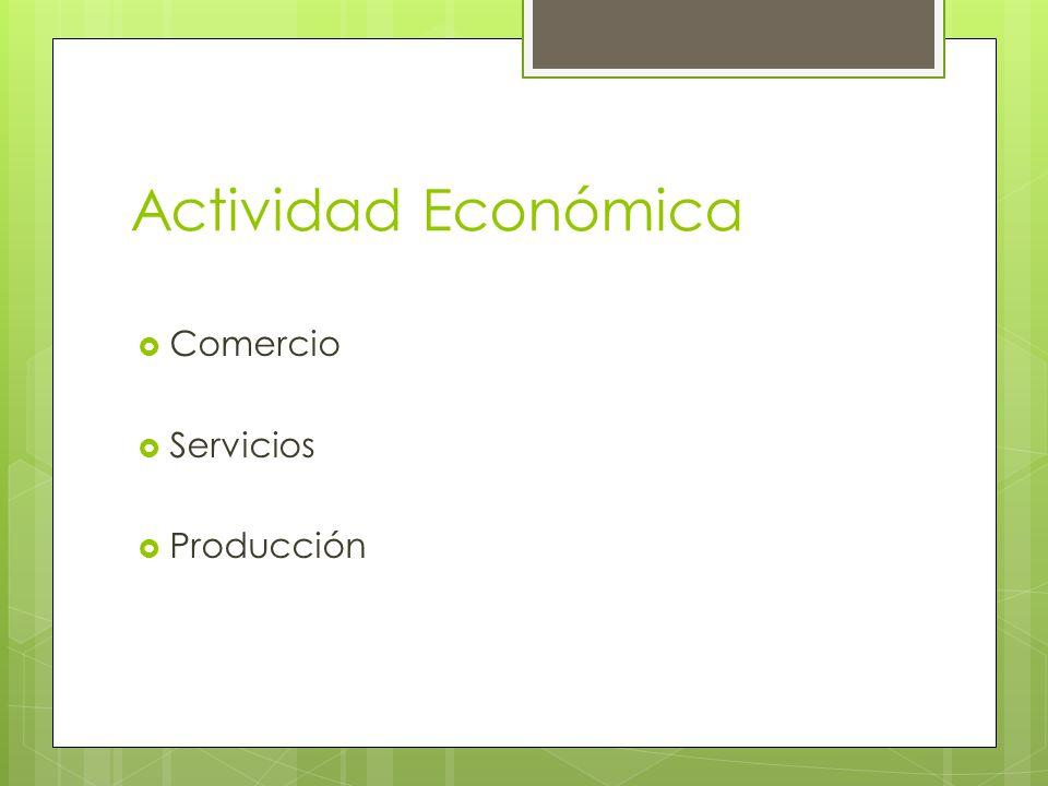 Actividad Económica Comercio Servicios Producción