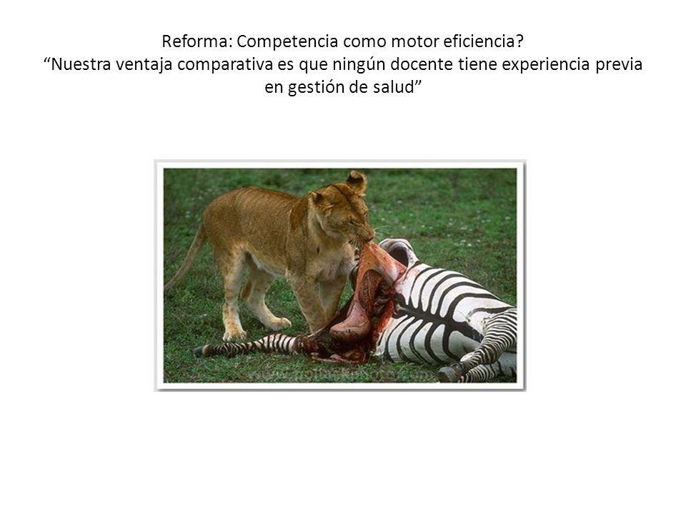 Reforma: Competencia como motor eficiencia.