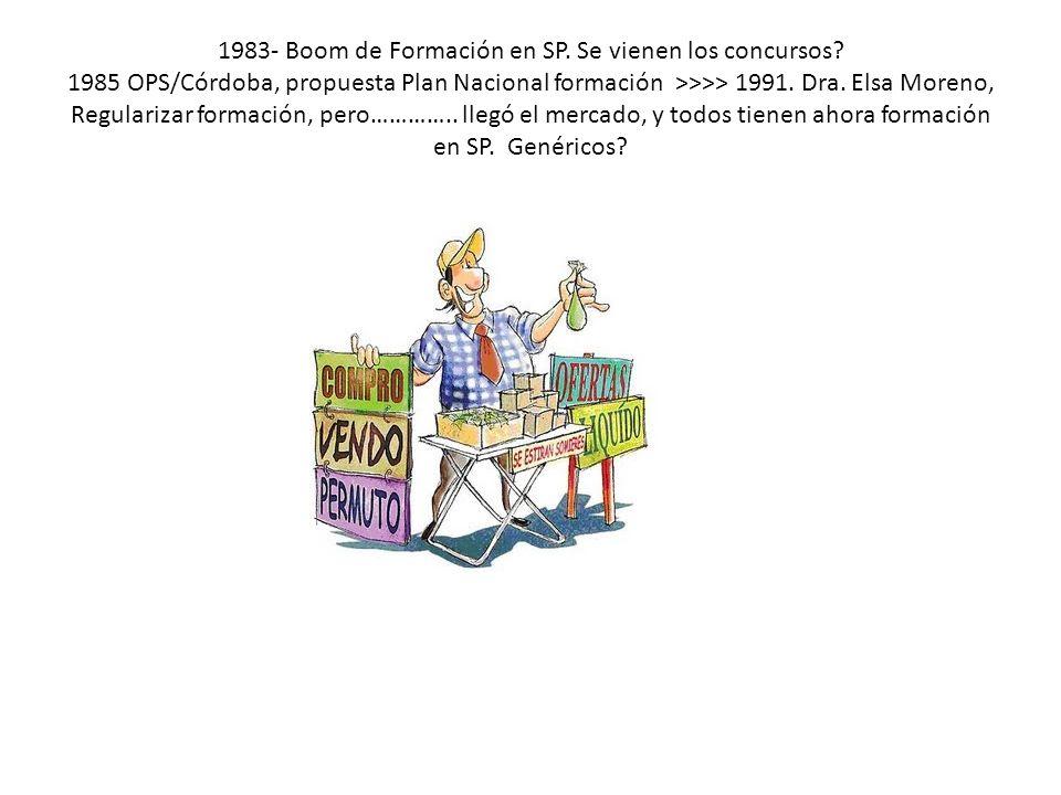 1983- Boom de Formación en SP. Se vienen los concursos.