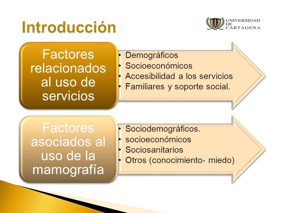 Problema ¿Cuáles son los factores asociados al uso de la mamografía en mujeres mayores de 50 años de la ciudad de Cartagena?