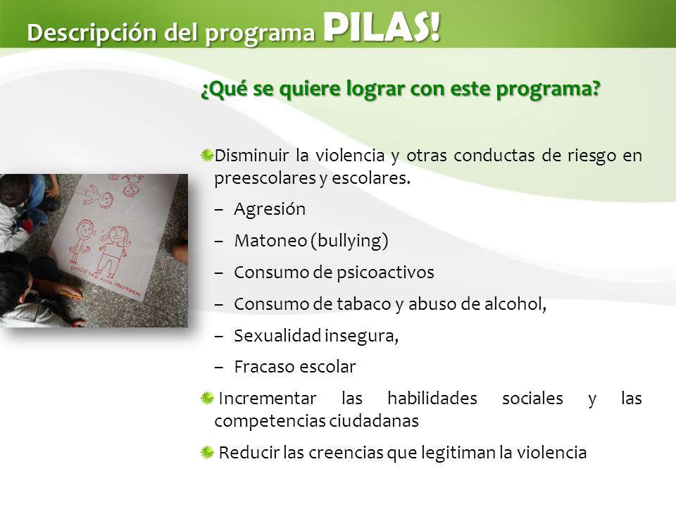 Descripción del programa PILAS.¿Qué se quiere lograr con este programa.