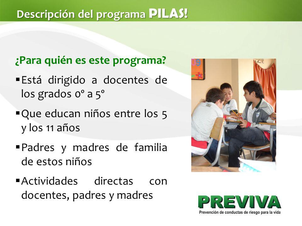 Descripción del programa PILAS.¿Para quién es este programa.
