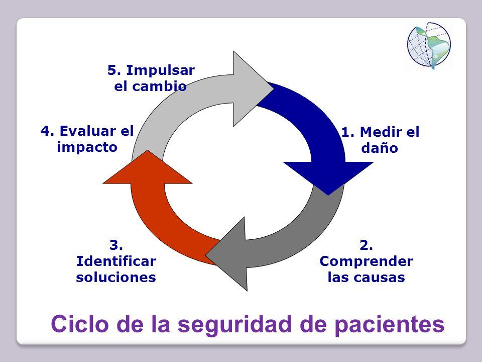 Ciclo de la seguridad de pacientes 1.Medir el daño 2.