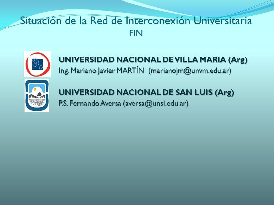 UNIVERSIDAD NACIONAL DE VILLA MARIA (Arg) Ing.