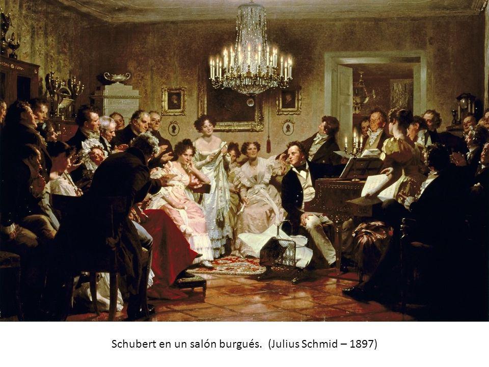 Schubert en un salón burgués. (Julius Schmid – 1897)