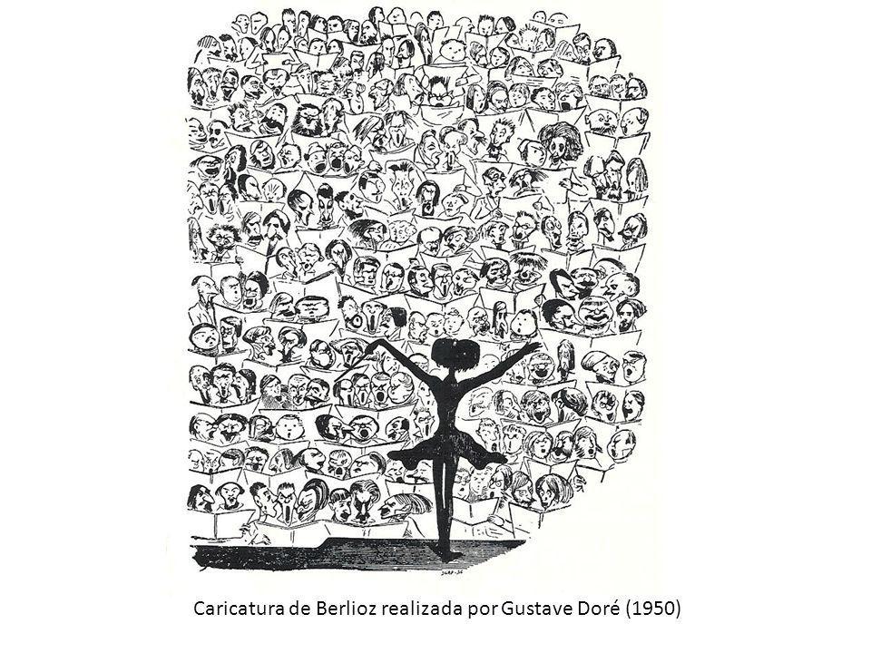 Caricatura de Berlioz realizada por Gustave Doré (1950)