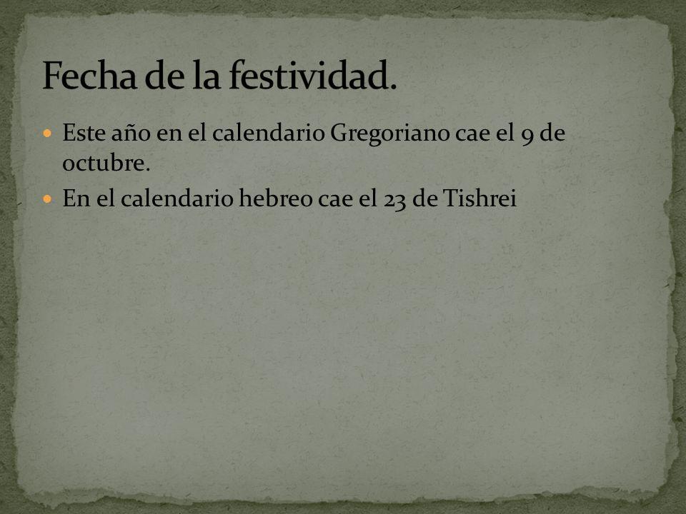 Este año en el calendario Gregoriano cae el 9 de octubre.