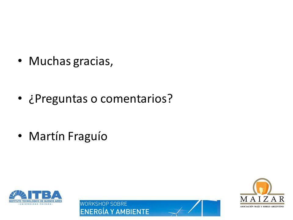 Muchas gracias, ¿Preguntas o comentarios? Martín Fraguío