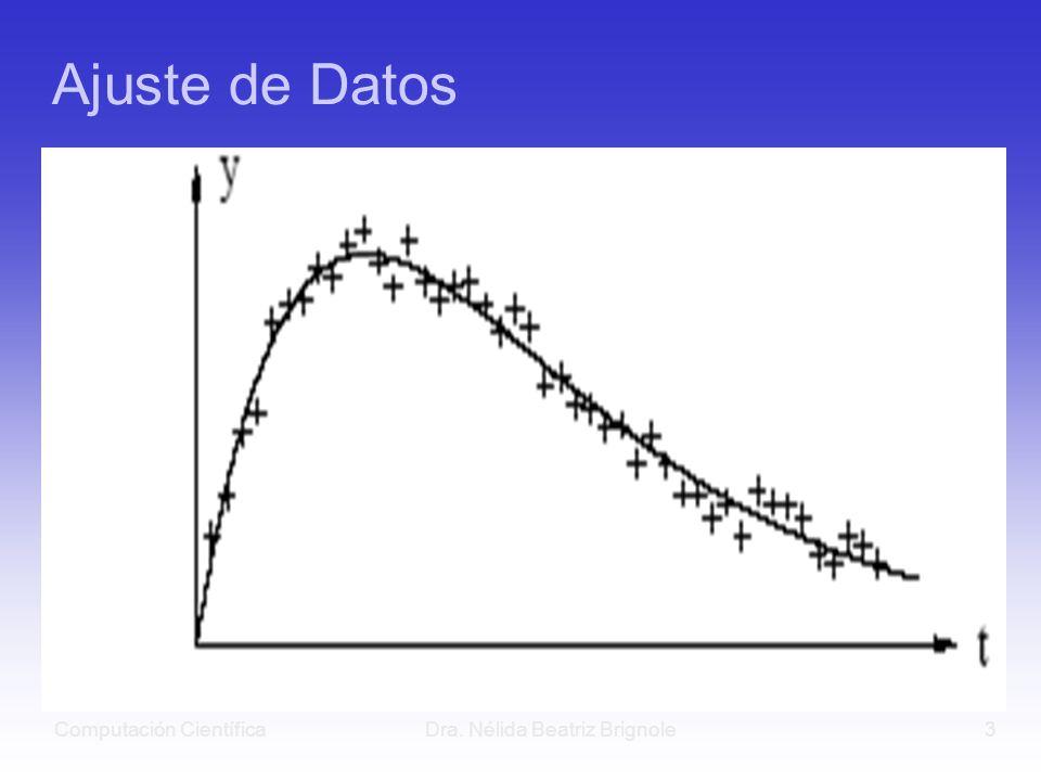 Computación CientíficaDra. Nélida Beatriz Brignole3 Ajuste de Datos
