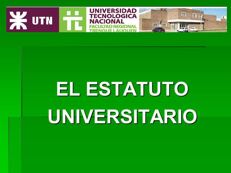 Próximo tema EL ESTATUTO UNIVERSITARIO