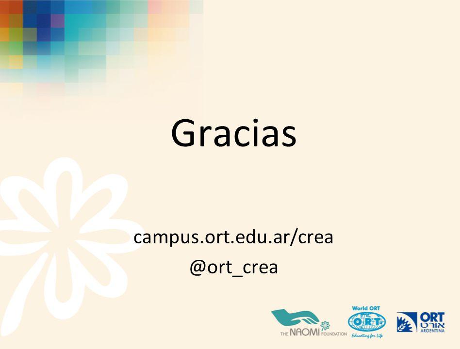Gracias campus.ort.edu.ar/crea @ort_crea